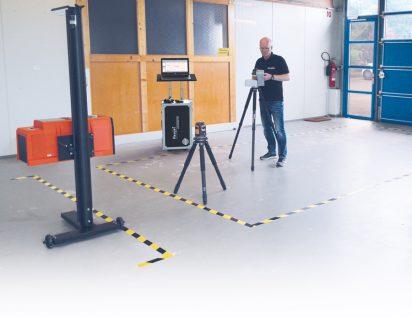 """Vermessung der Aufstellfläche PKW mit dem Laseraufmaßsystem """"Flexijet 3D"""""""